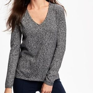 Old Navy Classic V-Neck Marled Sweater